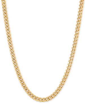 """Miami Cuban Link 18"""" Chain Necklace (3mm) in 14k Gold"""