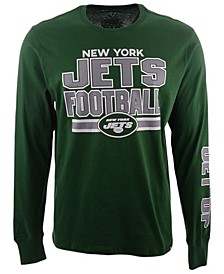 Men's New York Jets Dub Stack Super Rival Long Sleeve T-Shirt