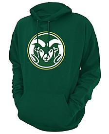 Men's Colorado State Rams Screenprint Big Logo Hooded Sweatshirt