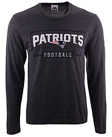 Men's New England Patriots Box Score FO Long Sleeve T-Shirt