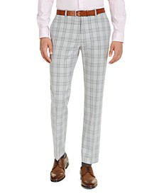 Men's Classic-Fit TH Flex Stretch Plaid Dress Pants