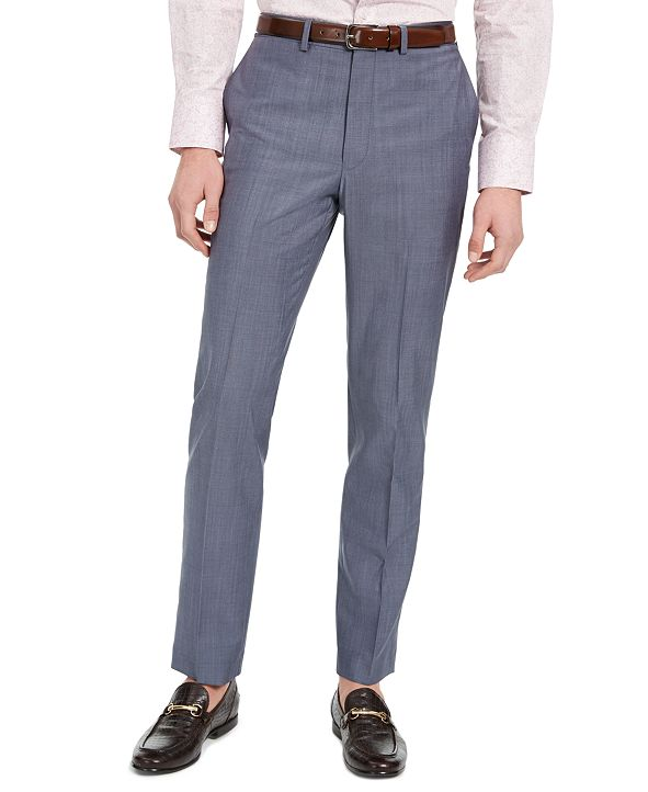 DKNY Men's Slim-Fit Stretch Suit Pants