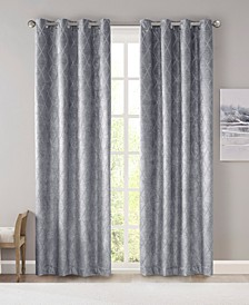 Taylor Diamond Jacquard Total Blackout Window Panel