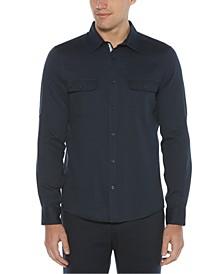 Men's Untucked Roll Sleeve Solid Shirt