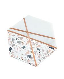 CLOSEOUT! Pink Terrazzo & White Marble Hexagon Trivet