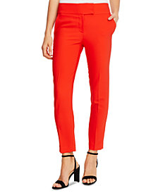 CeCe Twill Straight-Leg Pants