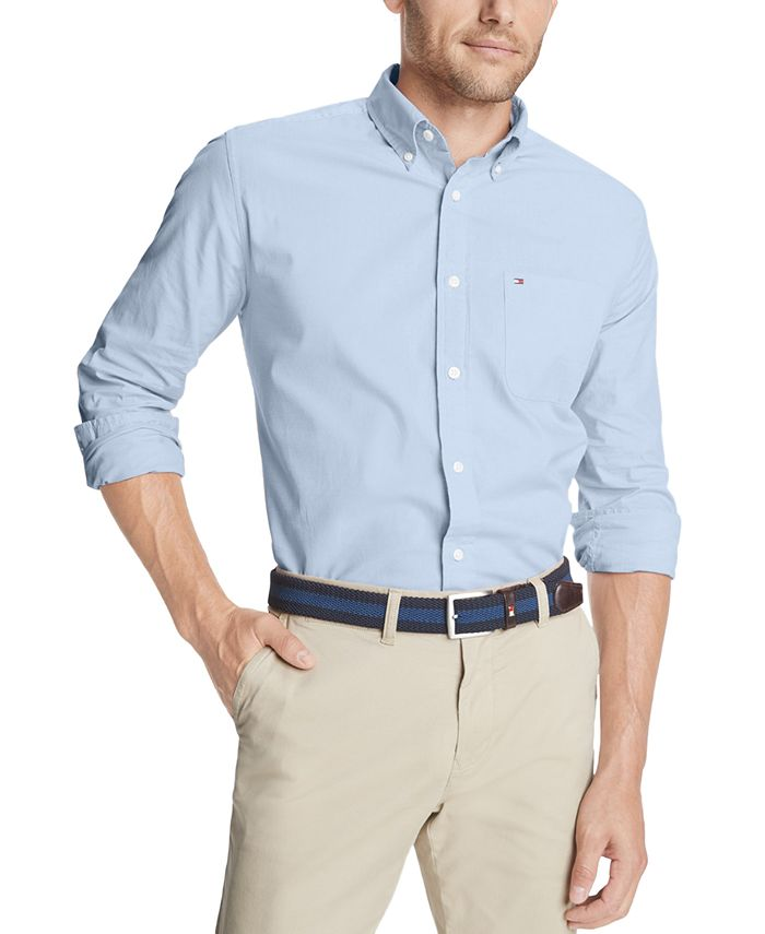 Tommy Hilfiger - Men's Capote Classic-Fit Stretch Solid Shirt