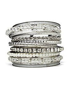 Beautiful Facet Bead Bangle Stack Bracelet Set