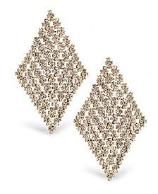 Accessories Diamond Shape Stone Statement Earrings