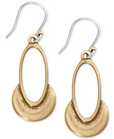 Crescent Oval Drop Earrings