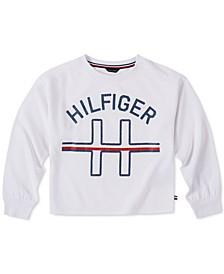 Big Girls Glitter Logo Sweatshirt