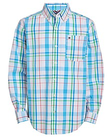 Big Boys Tyler Stretch Plaid Shirt