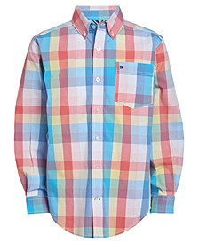 Little Boys Umar Stretch Plaid Shirt