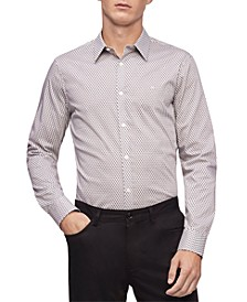 Men's Geo-Print Stretch Classic-Fit Shirt