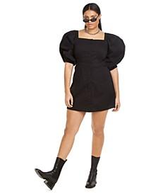 Plus Size Puff Sleeve Mini Dress, Created for Macy's