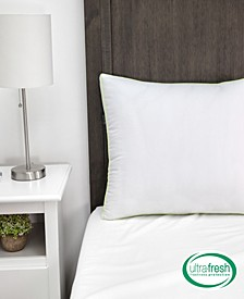 Ultra-Fresh Luxury Gusseted Antimicrobial Pillows Set of 2 with Nanotex Coolest Comfort Technology - Queen