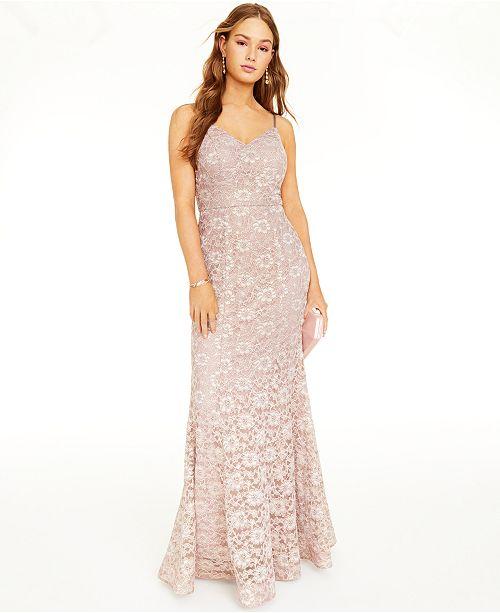 BCX Juniors' Glitter & Lace Gown