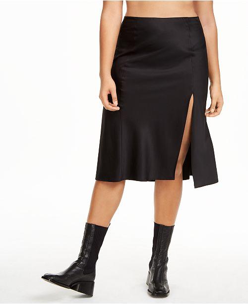 Danielle Bernstein Plus Size Slip Skirt, Created for Macy's