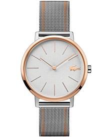 Women's Moon Two-Tone Stainless Steel Mesh Bracelet Watch 35mm