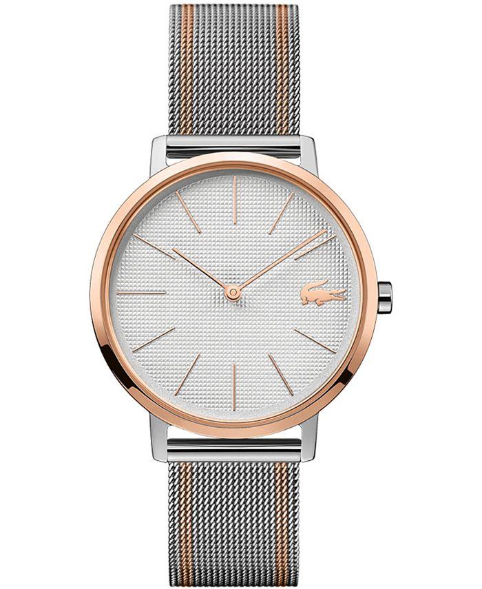 Lacoste - Women's Moon Two-Tone Stainless Steel Mesh Bracelet Watch 35mm