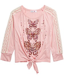 Big Girls Butterfly Top
