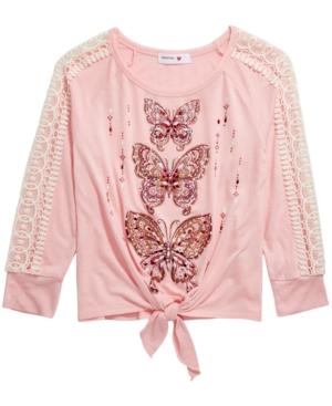 Beautees Big Girls Butterfly Top