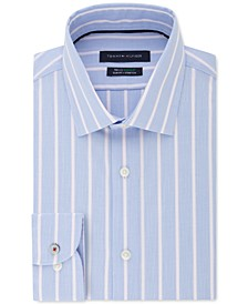 Men's Slim-Fit Stripe Dress Shirt