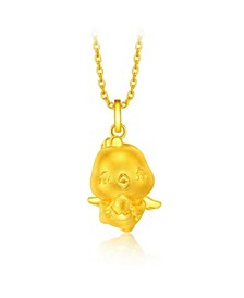 Rooster Charm Pendant in 24K Gold