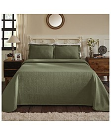 Medallion Jacquard Matelasse 3 Piece Bedspread Set, King