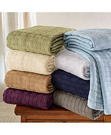 Superior Basket Weave Woven All Season Blanket, King