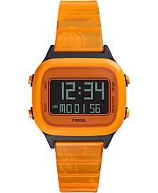 Unisex Digital Orange Watch FS5678