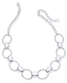 """Imitation Pearl Link Collar Necklace, 20"""" + 3"""" extender, Created for Macy's"""