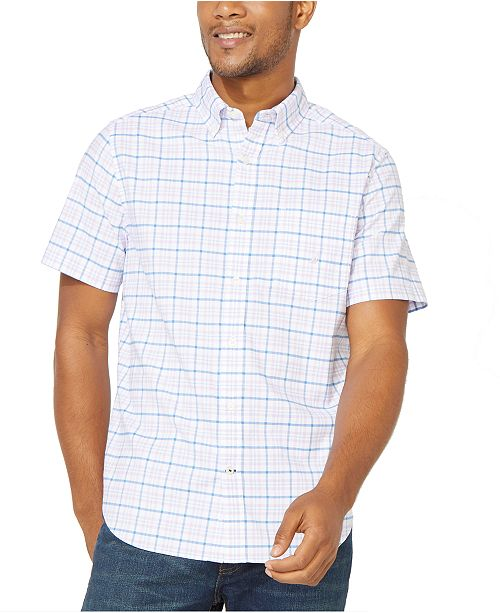 Nautica Men's Plaid Oxford Shirt, Created For Macy's