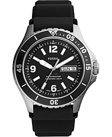 Men's FB-02 Black Silicone Strap Watch 48mm