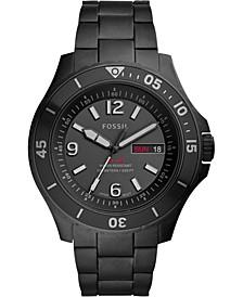 Men's FB-02 Black Stainless Steel Bracelet Watch 48mm