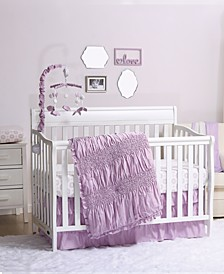 Lilac Kisses 3-Piece Crib Bedding Set