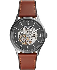 Men's Automatic Forrester Luggage Leather Strap Watch 42mm