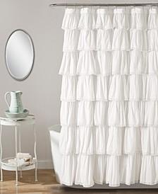 "Lace Ruffle 72"" x 96"" Shower Curtain"