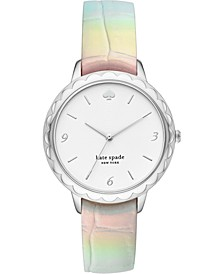 Women's Morningside Iridescent Leather Strap Watch 38mm