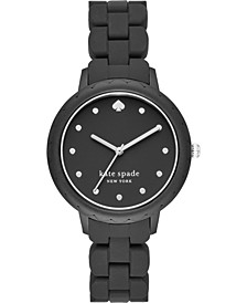 Women's Morningside Black Silicone Strap Watch 38mm