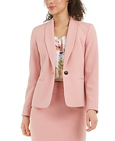 Textured Shawl-Collar Blazer