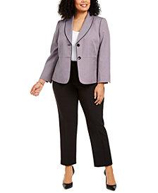 Le Suit Plus Size Printed Pantsuit