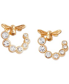 Crystal Lucky Bee Hoop Earrings