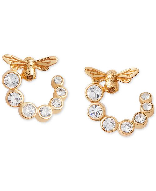 Olivia Burton Crystal Lucky Bee Hoop Earrings