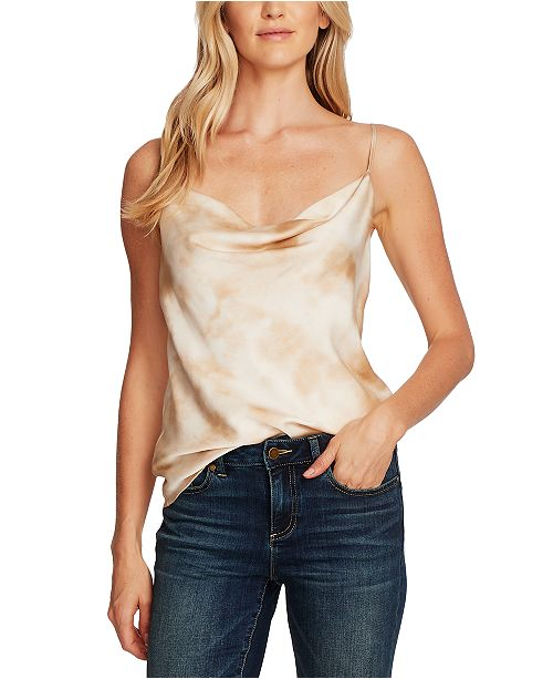 Vince Camuto Tie-Dyed Cowlneck Camisole