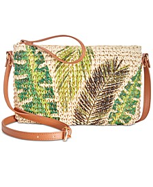 INC Tropical Straw Crossbody, Created For Macy's
