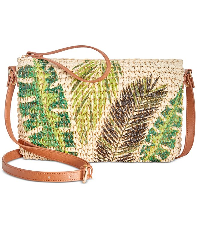 INC International Concepts INC Tropical Straw Crossbody, Created for Macy's