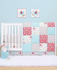 PS by Mila 3-Piece Microfiber Crib Bedding Set