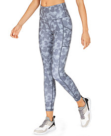 Ideology Camo-Print High-Rise Side-Pocket Leggings, Created for Macy's