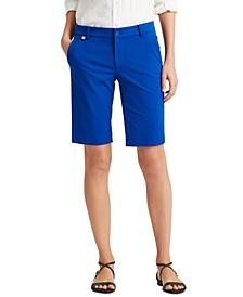 Petite Two-Way Stretch Cotton Shorts